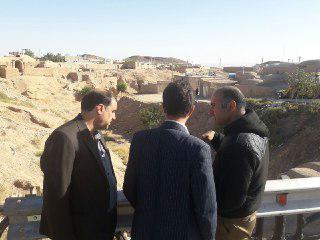 بازديد و بررسي مناطق در معرض خطر سيلاب شهر ارسك