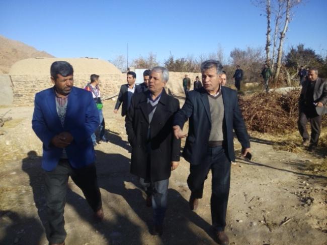 دهگردشي فرماندار شهرستان از روستاهاي بخش ارسك